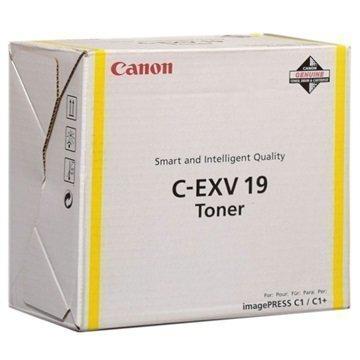Canon C-EXV 19 Toner 0400B002 Keltainen