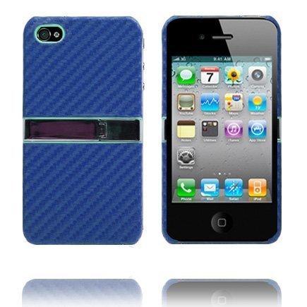 Carbon Kickstand Sininen Iphone 4 Suojakuori