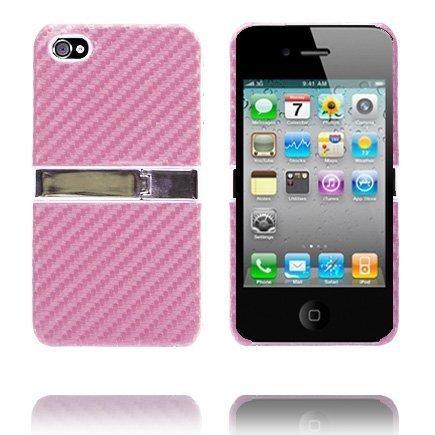 Carbon Kickstand Vaaleanpunainen Iphone 4 Suojakuori
