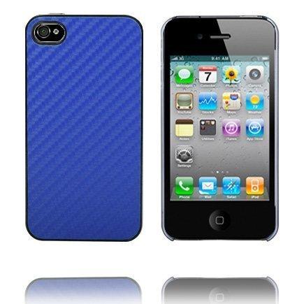 Carbon Kirkas Reunus Sininen Iphone 4 Suojakuori