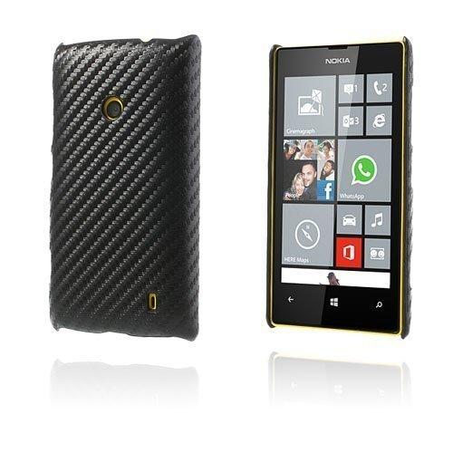 Carbon Musta Nokia Lumia 520 / 525 Suojakuori