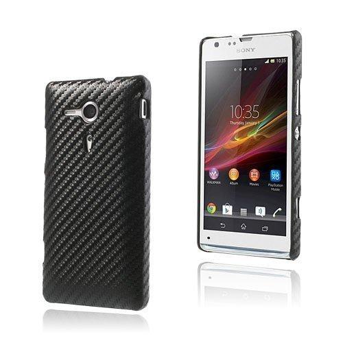 Carbon Musta Sony Xperia Sp Suojakuori