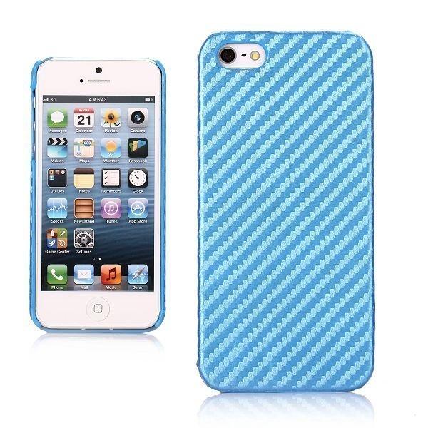 Carbon Sininen Iphone 5 Suojakuori