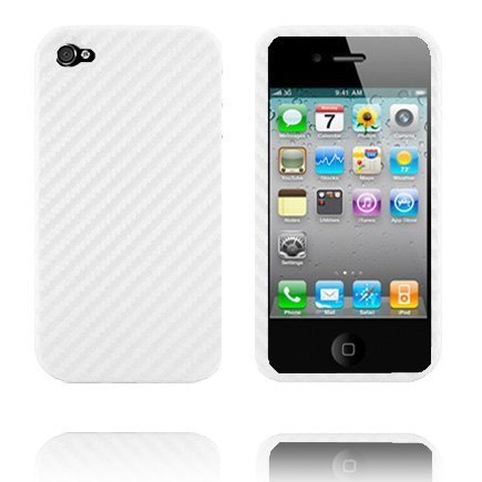 Carbon Slim Suojakuori Valkoinen Iphone 4 Suojakuori