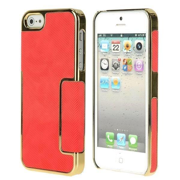 Carbonite Golden Chrome Edge Punainen Iphone 5 Suojakuori