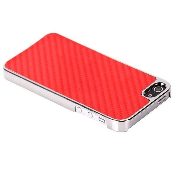 Carbonite Kromi Reuna Punainen Iphone 5 Suojakuori