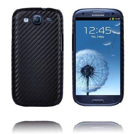 Carbonite Musta Samsung Galaxy S3 Suojakuori