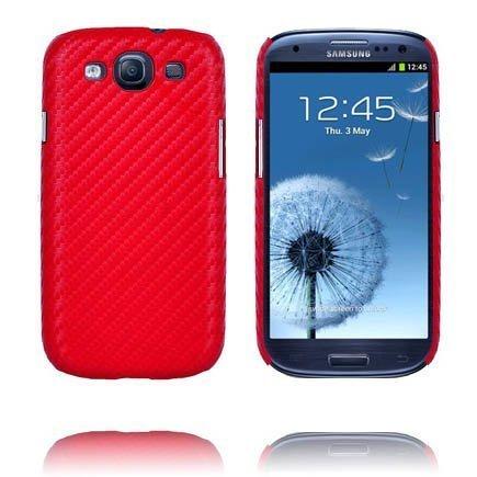 Carbonite Punainen Samsung Galaxy S3 Suojakuori