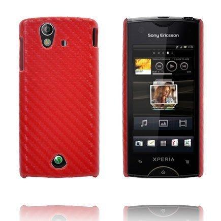 Carbonite Punainen Sony Ericsson Xperia Ray Suojakuori