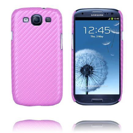Carbonite Vaaleanpunainen Samsung Galaxy S3 Suojakuori