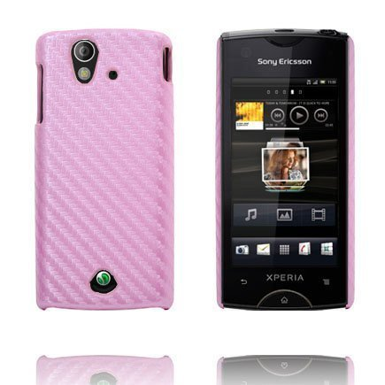 Carbonite Vaaleanpunainen Sony Ericsson Xperia Ray Suojakuori