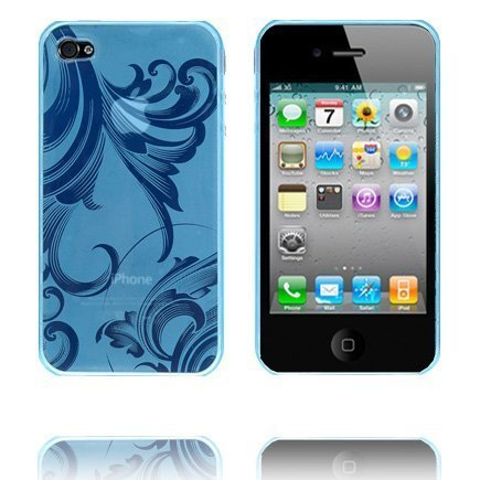 Caribia Vaaleansininen Iphone 4 Silikonikuori