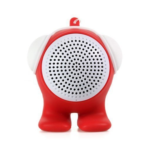Cartoon Doll Punainen Bluetooth Kaiutin Aux-Sisääntulolla