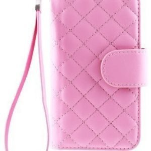 Case Folio for Samsung Galaxy S4 Mini Quilted Pink