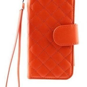 Case Folio for iPhone 5 Quilted Orange