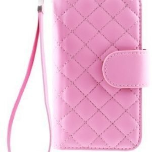 Case Folio for iPhone 5 Quilted Pink