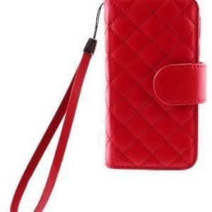 Case Folio for iPhone 5 Quilted Red