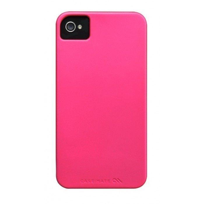 Case-Mate Barely There Alumiini Suojakuori Iphone 4s / 4 Puhelimille Sähköinen Pinkki