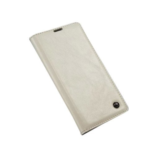 Caseme Sony Xperia Z3+ Nahkakotelo Valkoinen