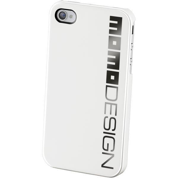 CellularLine MOMO design kovamuovikuori-iPhone 4/4S musta logo valk