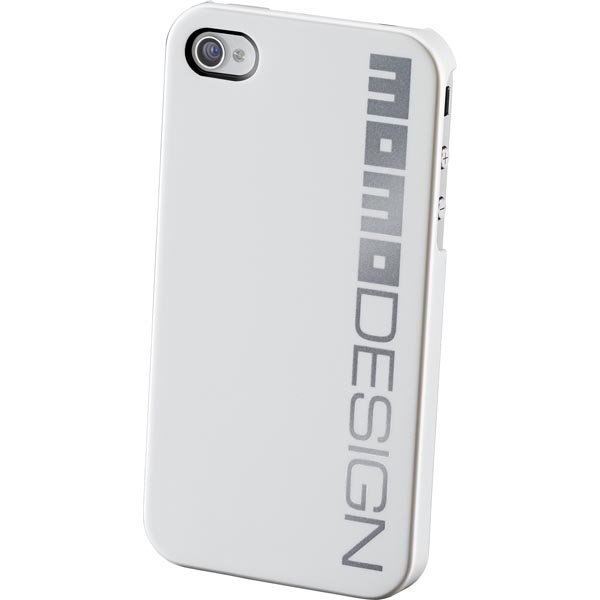 CellularLine MOMO design muovikuori-iPhone 4/4S hopeinen logo va