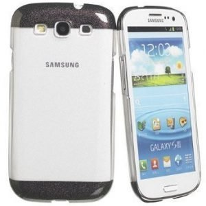Celly Glamme Glitter Case for Samsung Galaxy SIII Black