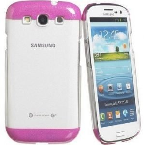 Celly Glamme Glitter Case for Samsung Galaxy SIII Pink