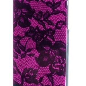 Celly Glamme Lace Case iPhone 5 Fuschia