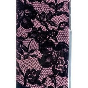 Celly Glamme Lace Case iPhone 5 Pink