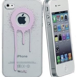 Celly Graffiti Drips Case for iPhone 4/4S Pink