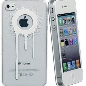 Celly Graffiti Drips Case for iPhone 4/4S White