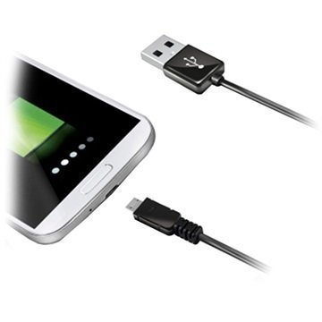 Celly USB 2.0 / MicroUSB Kaapeli Musta