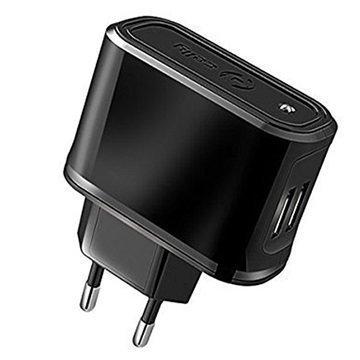 Celly Universaali Dual USB Matkalaturi Musta