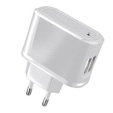 Celly Universaali Dual USB Matkalaturi Valkoinen