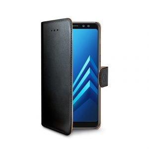 Celly Wally Case Galaxy A8 2018 Musta