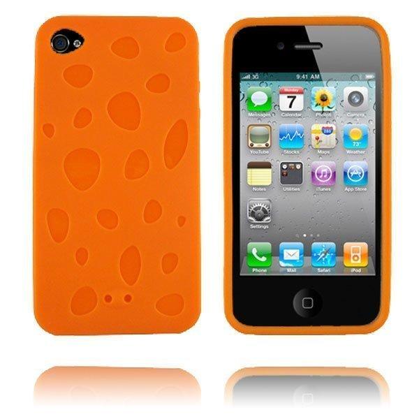 Chees Oranssi Iphone 4 Silikonikuori