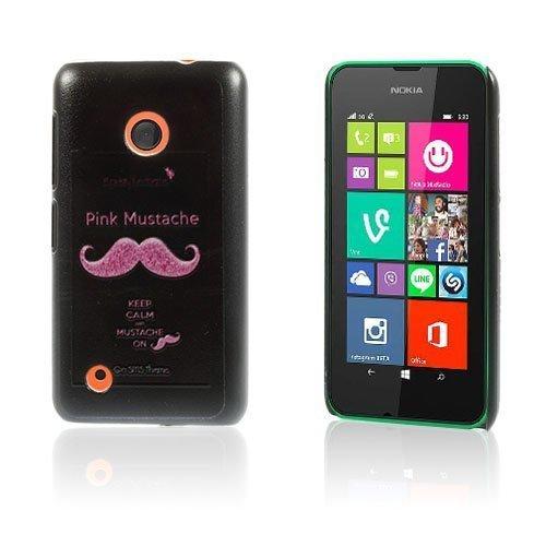 Christensen Edge Nokia Lumia 530 Kova Suojakuori Keep Calm And Mustache