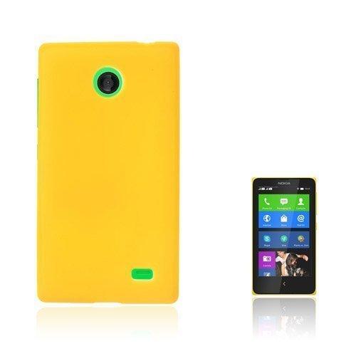 Christensen Matta Keltainen Nokia X Suojakuori