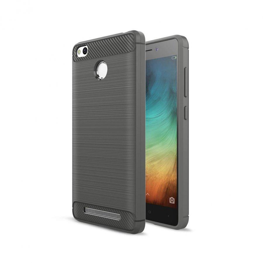 Christensen Xiaomi Redmi 3s Joustava Hiilikuitu Muovikuori Harmaa