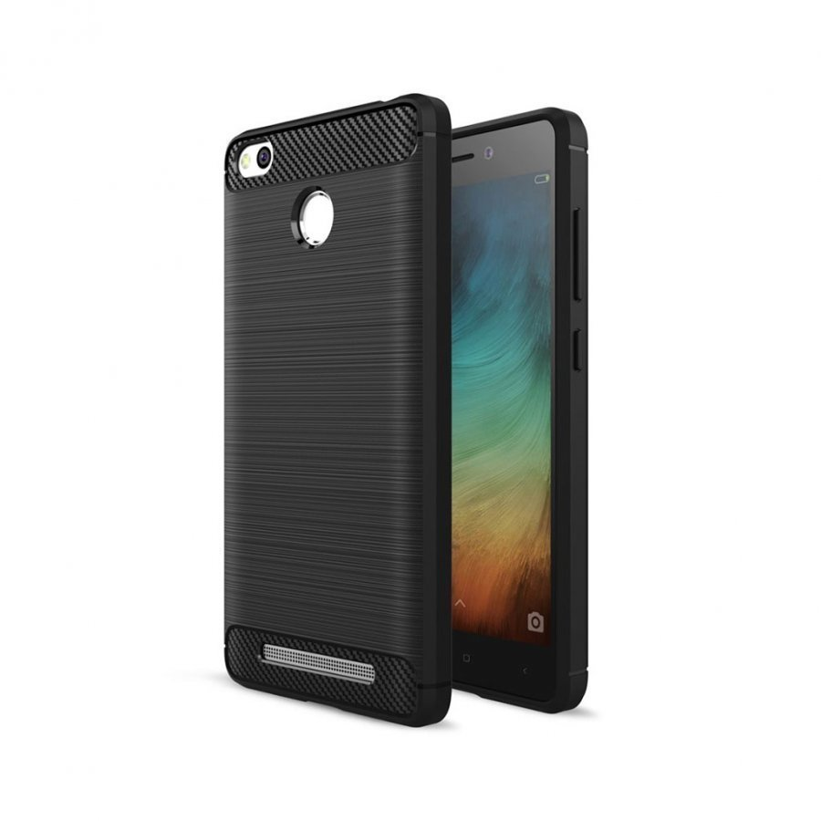 Christensen Xiaomi Redmi 3s Joustava Hiilikuitu Muovikuori Musta