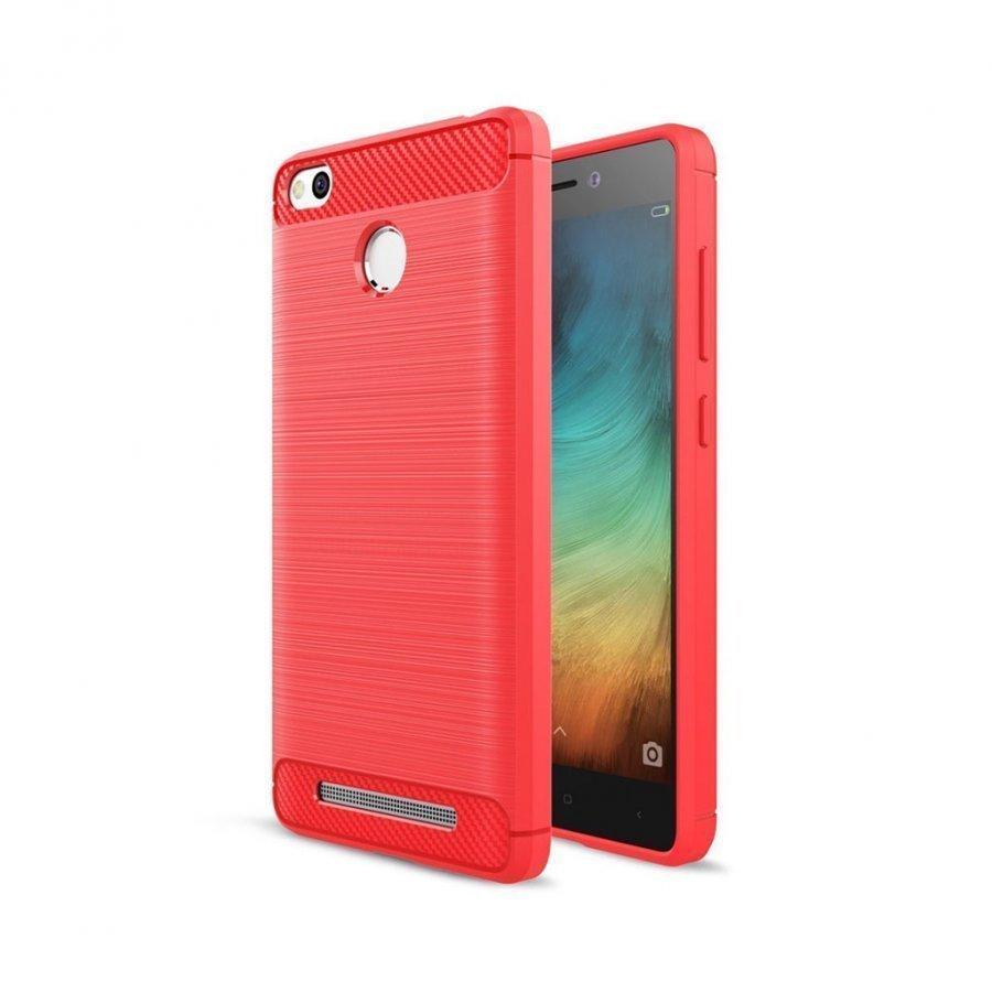 Christensen Xiaomi Redmi 3s Joustava Hiilikuitu Muovikuori Punainen