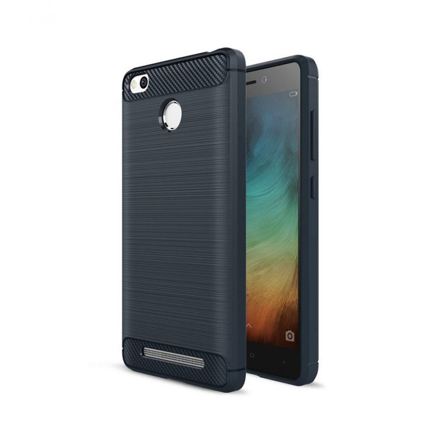 Christensen Xiaomi Redmi 3s Joustava Hiilikuitu Muovikuori Tummansininen