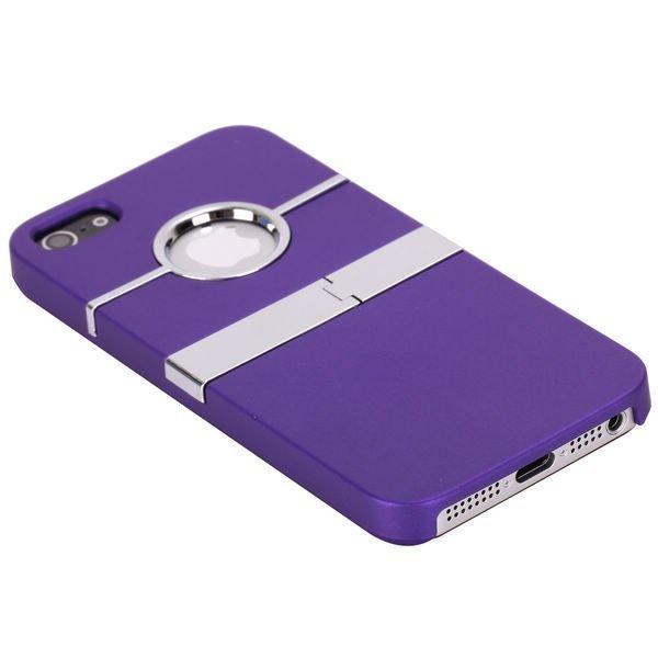 Chrome Kick-Stand Violetti Iphone 5 Suojakuori