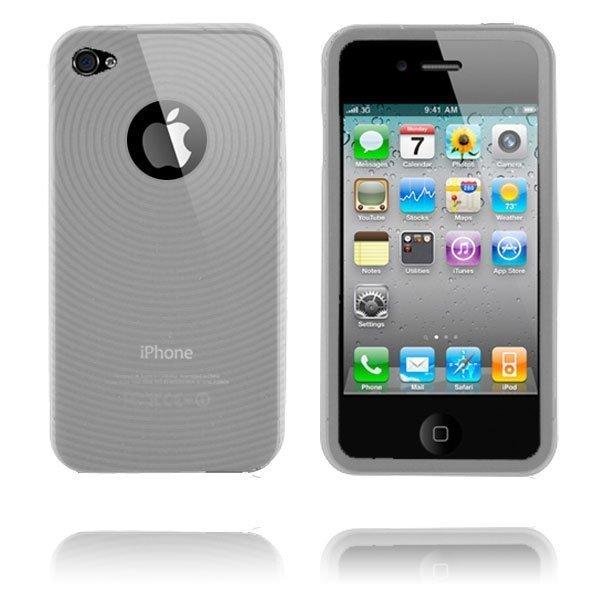Circle I4 Läpikuultava Iphone 4 Silikonikuori