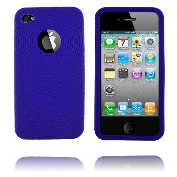 Circle I4 Sininen Iphone 4 Silikonikuori