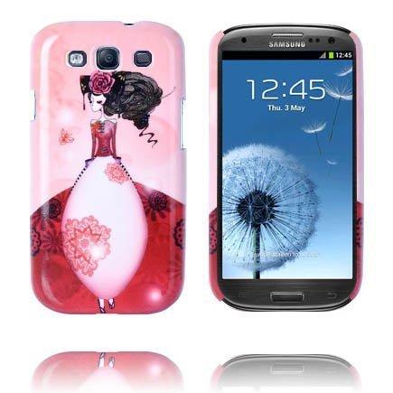Classic Sketch Punainen Samsung Galaxy S3 Suojakuori
