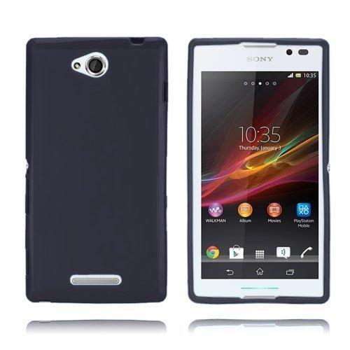 Clickcase Musta Sony Xperia C Suojakuori