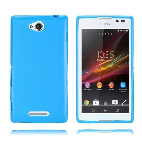 Clickcase Sininen Sony Xperia C Suojakuori