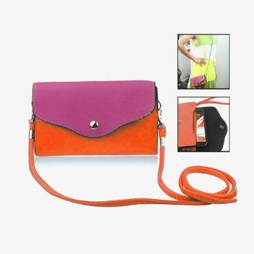 Color Bag Pinkki Nahkalaukku Älypuhelimille Suuri