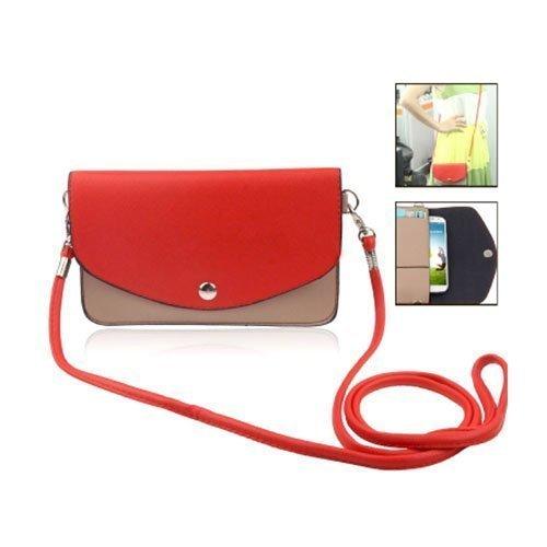 Color Bag Punainen Nahkalaukku Älypuhelimille Keskikokoinen